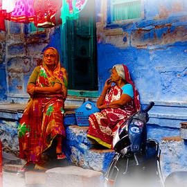 Blue City House Hanging Out India Rajasthan 1a by Sue Jacobi