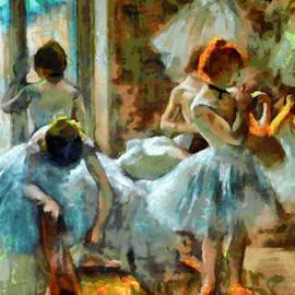 Mario Carini - Blue Dancers in Modern Style