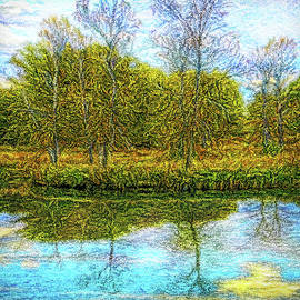 Blue Day Reflections by Joel Bruce Wallach