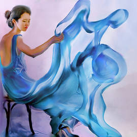 Salome Hooper - Blue Dress