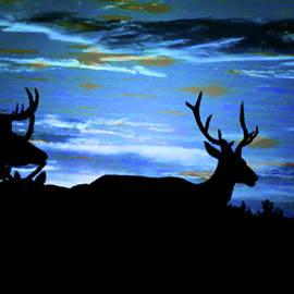 Blue Elk Dreamscape by Mike Breau