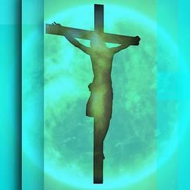 Blue Environment Crucifixion by Alberto RuiZ