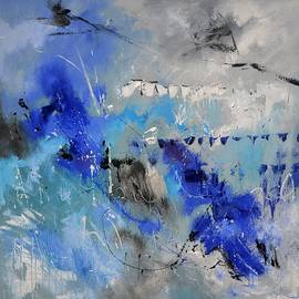 Blue flight abstract by Pol Ledent
