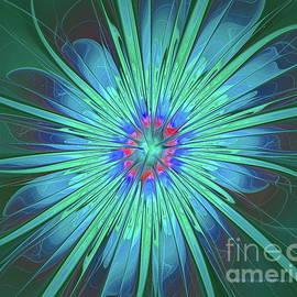 Deborah Benoit - Blue Flower Abstract