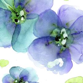 Blue Flowers by Dawn Derman