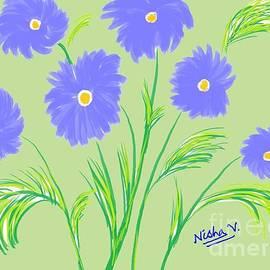 Nisha Verma - Blue Flowers
