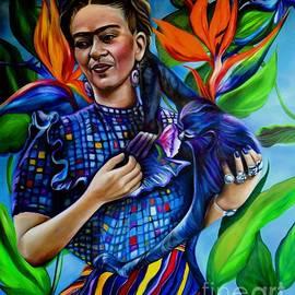Blue Frida by Barbara Rivera