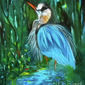 Blue Heron by Jenny Lee