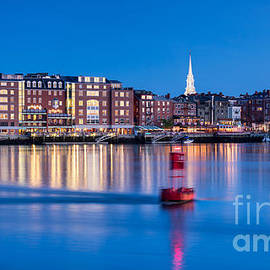 Dawna  Moore Photography - Blue Hour over Portsmouth New Hampshire