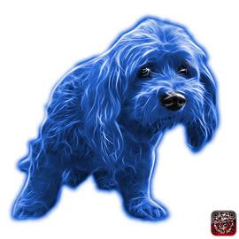 Blue Lhasa Apso Pop Art - 5331 - Wb by James Ahn