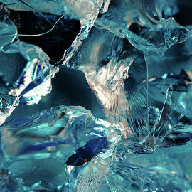 Blue Luminous Gel Abstract 2 by Angela Murdock