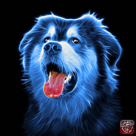 Blue Malamute Dog Art - 6536 - Bb by James Ahn