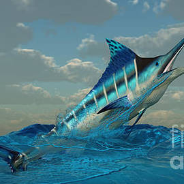 Blue Marlin Burst by Corey Ford