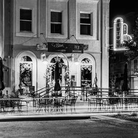 Gregory Ballos - Blue Moon on the Square and Bentonville Neon - Black and White
