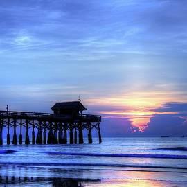 Carol R Montoya - Blue Morning Over Cocoa Beach Pier