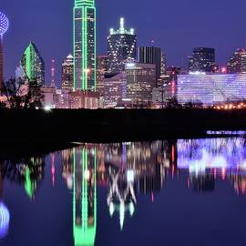 Frozen in Time Fine Art Photography - Blue Night and Reflections in Dallas