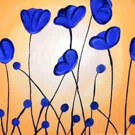 Jilian Cramb - AMothersFineArt - Blue Poppies
