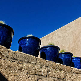 Lucinda Walter - Blue Pottery On Wall