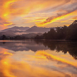 Robert Stephens - Blue Ridge Mountains NC Heavenly Reflections