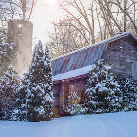 Robert Stephens - Blue Ridge Mountains NC Maggie Valley Winter Barn