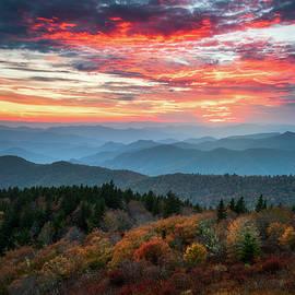 Blue Ridge Parkway Autumn Sunset Scenic Landscape Asheville NC by Dave Allen