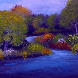 Blue River 2 by Sandra Young Servis