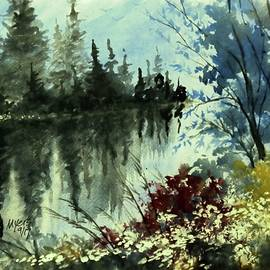 David K Myers - Blue River, Watercolor