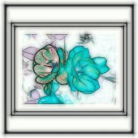 Debra Lynch - Blue Roses On Stone
