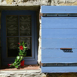 Blue Shutters by Rasma Bertz