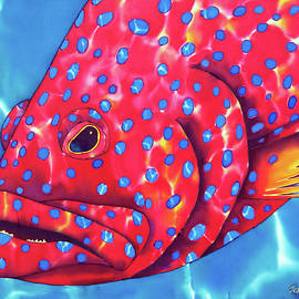 Daniel Jean-Baptiste - Blue Spotted Red Coral Grouper Fish