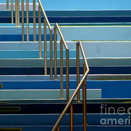 Michael Hoard - Stairs Blue Abstract In New Orleans Louisiana
