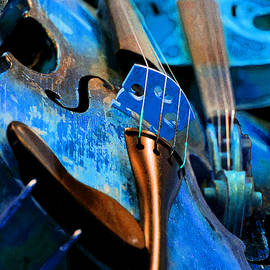 Blue Violin by Michele Avanti