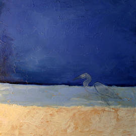 Blue With Bird by Victoria Sheridan