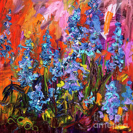 Ginette Callaway - Bluebells Impressionsit Oil Painting