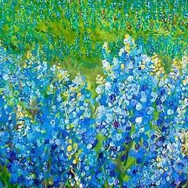 Bluebonnet Panorama by Eloise Schneider Mote