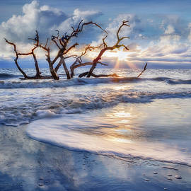 Blues at Driftwood Beach by Debra and Dave Vanderlaan