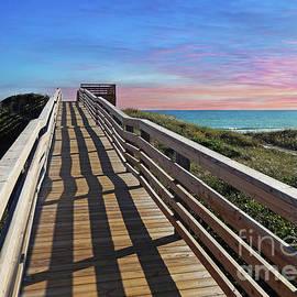 Kelley Freel-Ebner - Boardwalk at Sunset
