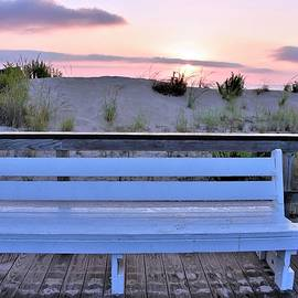 A Welcome Invitation -  The Boardwalk Bench by Kim Bemis