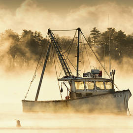 Jack Milton - Boat in Sea Smoke