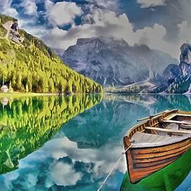Boat on the Lake by Maciek Froncisz