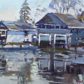 Boathouses by Icy Creek
