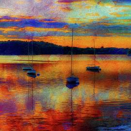 Lilia D - BOats at sunset - paint edition