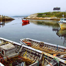 Boats in Peggys Cove by Carolyn Derstine