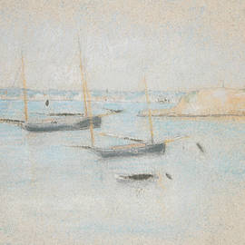 Boats by Julian Alden Weir