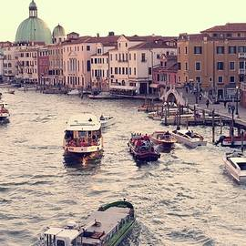 Boats Of Venice by Brad Scott