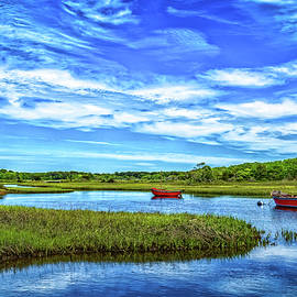 Boats on Herring River, Cape Cod by Gestalt Imagery