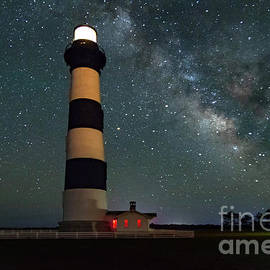 Bodie Lighthouse Milky Way by Norma Brandsberg