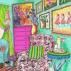 Boho Chic -- the original -- Colorful Interior Scene by Jayne Somogy