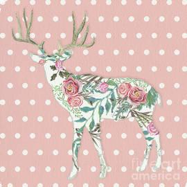 Audrey Jeanne Roberts - BOHO Deer Silhouette Rose Floral Polka Dot