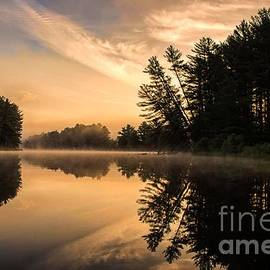 Jan Mulherin - Bold and Bright Sunrise on the Androscoggin River